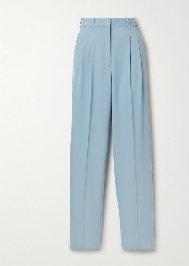 Stella McCartney Pleated Wool-blend Twill Straight-leg Pants