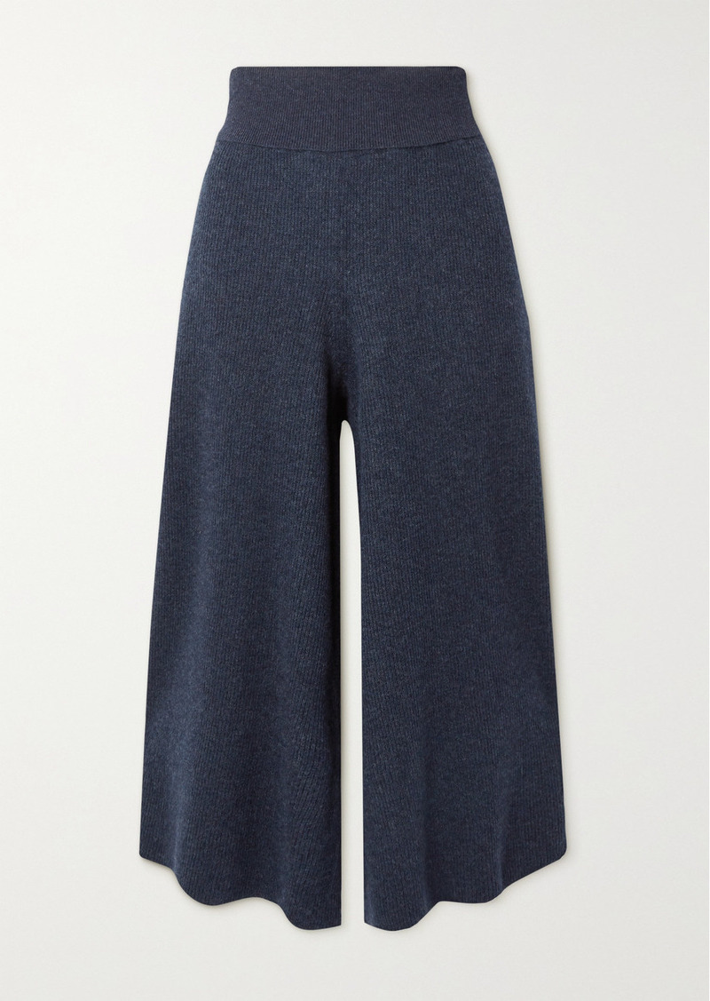 Stella McCartney Ribbed Mélange Wool And Alpaca-blend Culottes