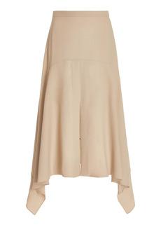 Stella McCartney - Women's Ariah Crepe Handkerchief Midi Skirt - Brown - Moda Operandi