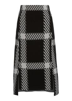 Stella McCartney - Women's Clean Lumberjack Knit Midi Skirt - Black/white - Moda Operandi