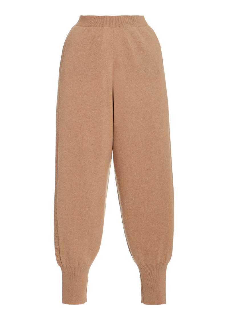 Stella McCartney - Women's Soft Cashmere-Wool Jogger Pants - Neutral - Moda Operandi