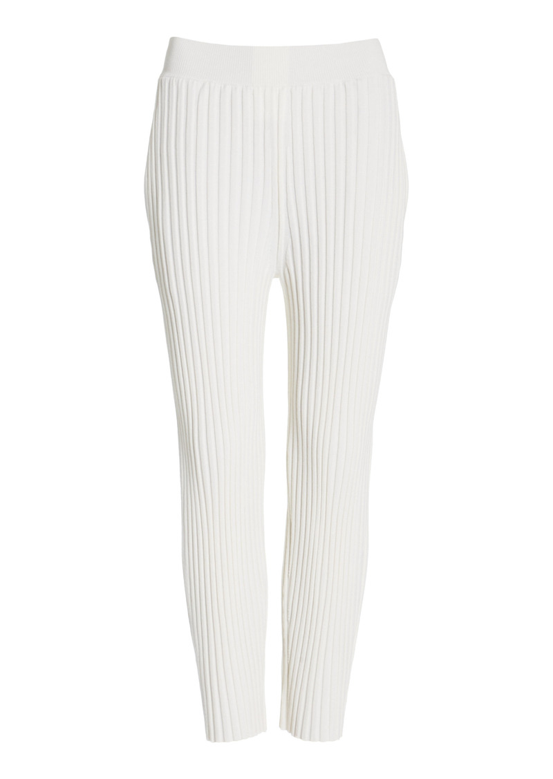 Stella McCartney - Women's Soft Wool-Blend Tapered Trousers  - Ivory - Moda Operandi