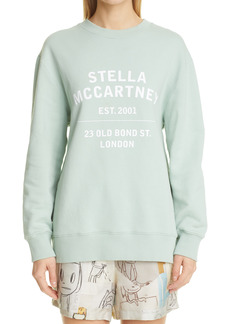 Stella Mccartney 23 Obs Logo Organic Cotton Sweatshirt