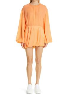 Stella McCartney Amanda Long Sleeve Balloon Silk Minidress