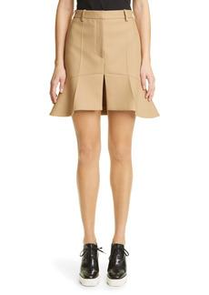 Stella McCartney Arabella Peplum Twill Miniskirt
