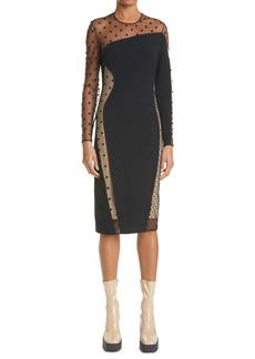 Stella McCartney Arielle Long Sleeve Evening Dress
