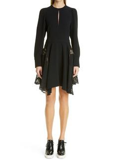 Stella McCartney Asymmetrical Long Sleeve Stretch Cady Dress