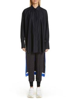 Stella McCartney Back Scarf Panel Silk Shirt