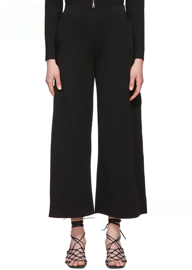 Stella McCartney Black Compact Knit Trousers
