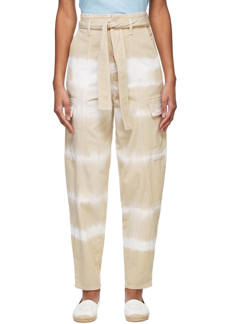Stella McCartney Brown Tie-Dye Bamboo Safari Trousers
