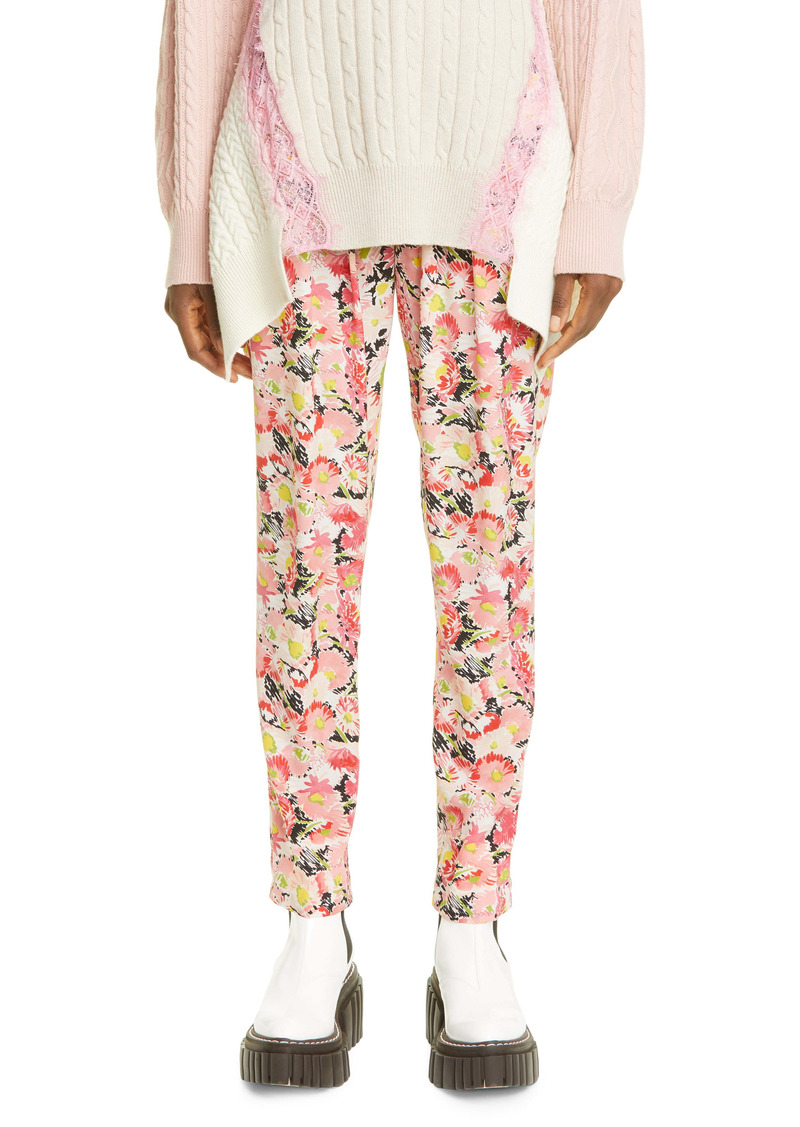 Stella McCartney Christine Floral Print Silk Pants