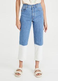 Stella McCartney Dip Faded Hem Wash Trousers