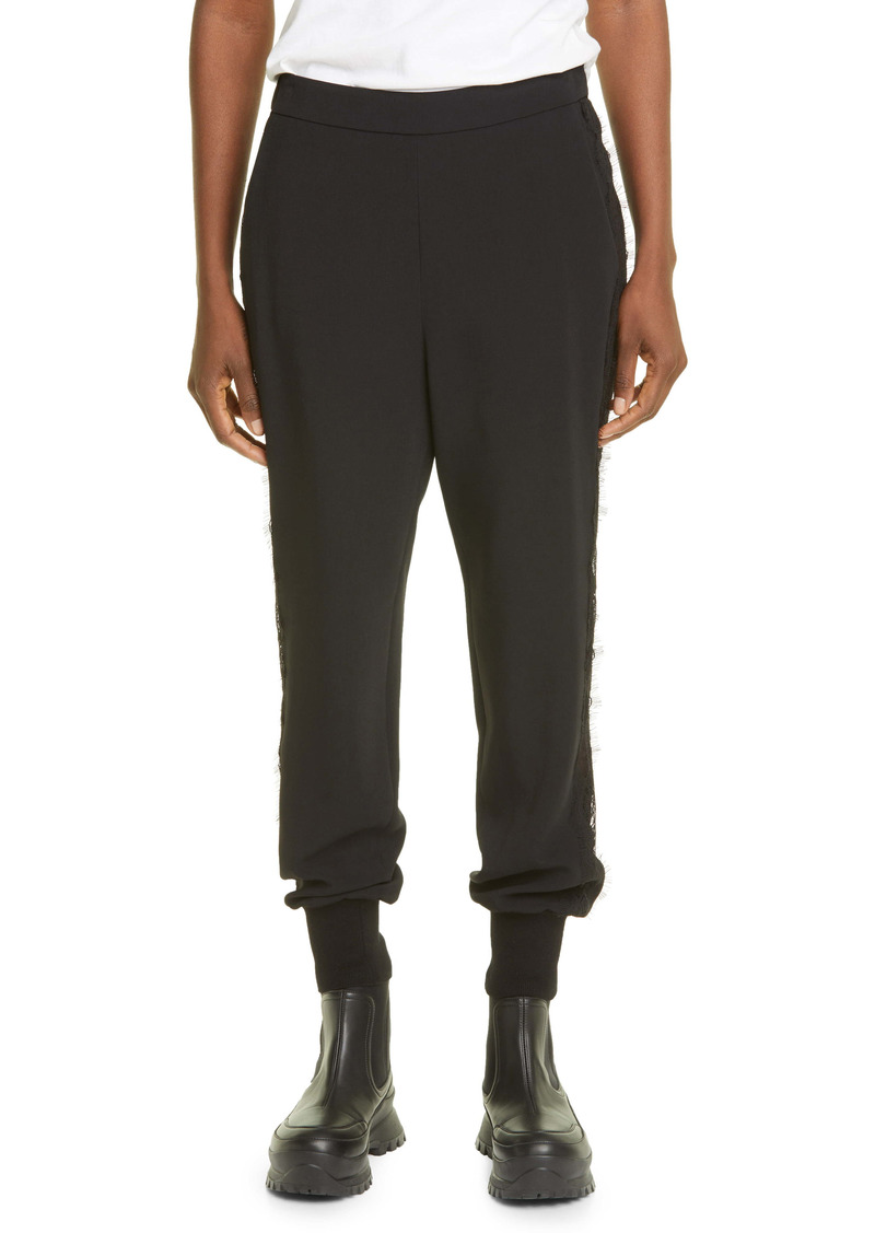 Stella McCartney Julia Lace Inset Stretch Cady Joggers