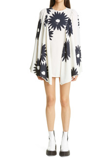 Stella McCartney Luciana Floral Print Long Sleeve Minidress