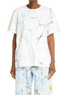 Stella McCartney Marble Print Logo Organic Cotton T-Shirt