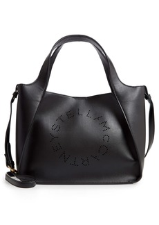 Stella McCartney Perforated Logo Faux Leather Satchel