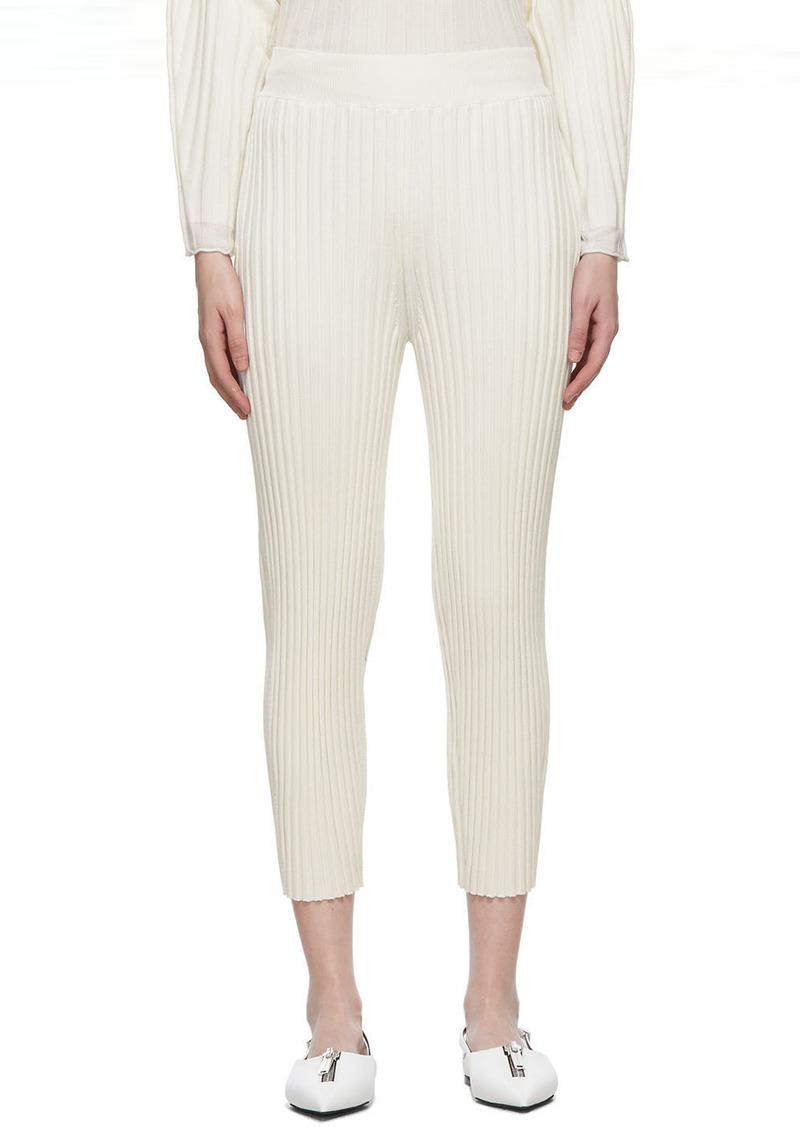Stella McCartney White Wool Ribbed Lounge Pants