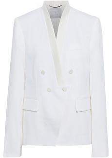 Stella Mccartney Woman Amber Double-breasted Grain De Poudre Wool Blazer White