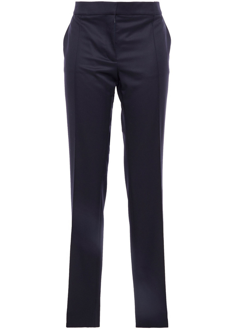 Stella Mccartney Woman Anna Wool-twill Slim-leg Pants Indigo