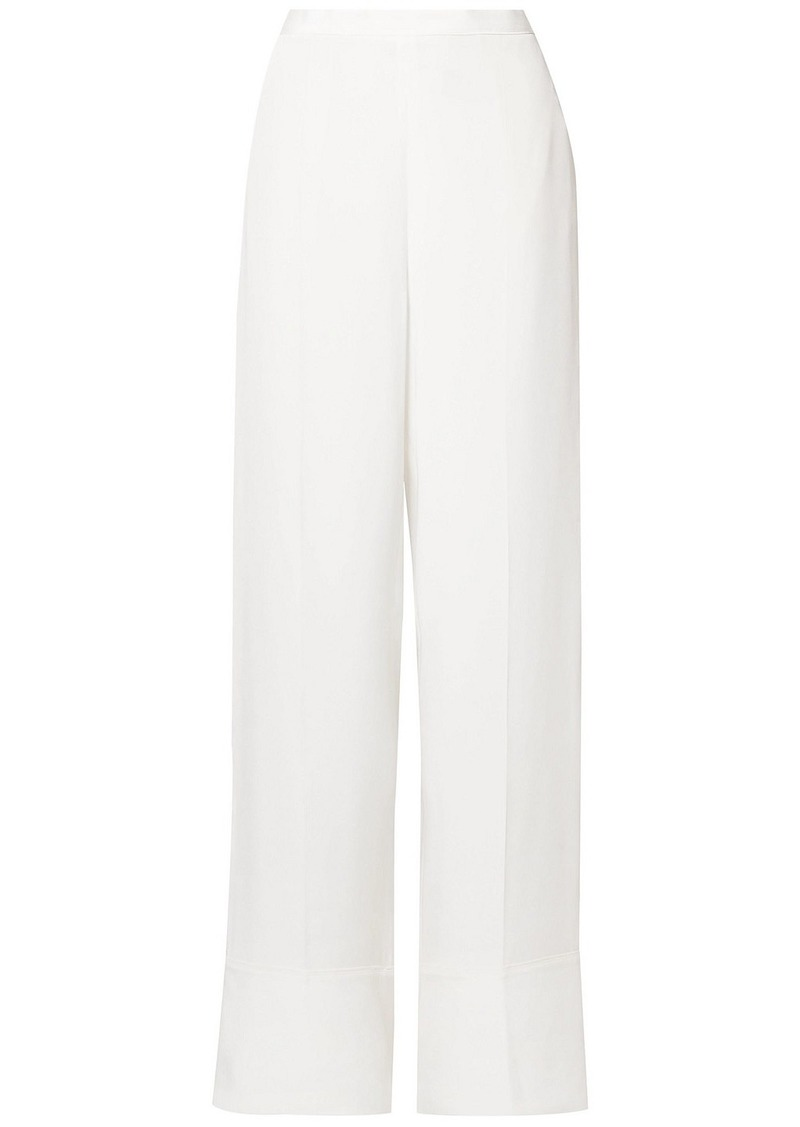 Stella Mccartney Woman Arielle Silk Crepe De Chine Wide-leg Pants Ivory