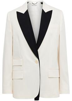 Stella Mccartney Woman Bell Two-tone Wool-twill Blazer Ivory