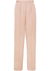 Stella Mccartney Woman Katlyn Pleated Canvas Wide-leg Pants Blush