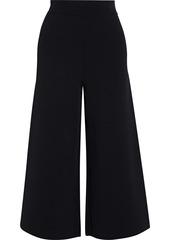 Stella Mccartney Woman Cropped Ponte Wide-leg Pants Black