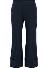 Stella Mccartney Woman Dania Wool-twill Kick-flare Pants Midnight Blue