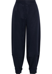 Stella Mccartney Woman Emelie Cropped Wool-twill Tapered Pants Navy