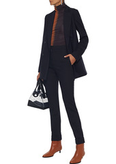 Stella Mccartney Woman Emery Pinstriped Wool-blend Slim-leg Pants Midnight Blue
