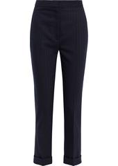 Stella Mccartney Woman Emery Pinstriped Wool-blend Slim-leg Pants Midnight Blue