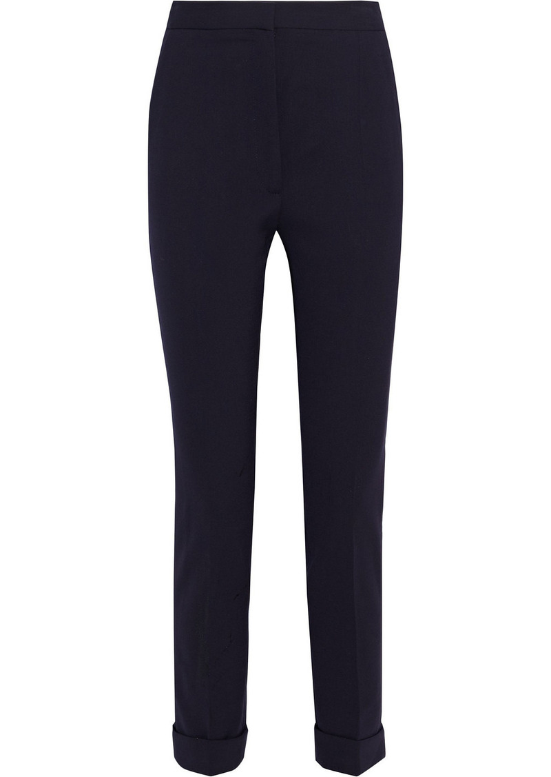 Stella Mccartney Woman Emery Wool-blend Slim-leg Pants Midnight Blue