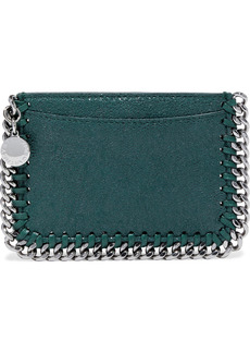 Stella Mccartney Woman Falabella Faux Brushed-leather Cardholder Emerald