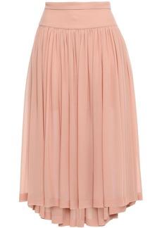Stella Mccartney Woman Gathered Silk-georgette Midi Skirt Blush