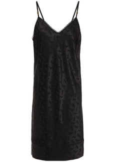 Stella Mccartney Woman Gloria Sprinting Silk-blend Satin-jacquard Chemise Black
