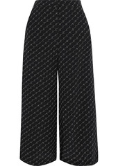 Stella Mccartney Woman Jaycee Monogram-print Silk Crepe De Chine Culottes Black