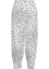 Stella Mccartney Woman Lexi Cropped Polka-dot Stretch-crepe Tapered Pants White
