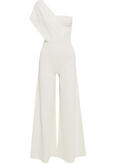 Stella Mccartney Woman One-shoulder Ponte Jumpsuit Off-white