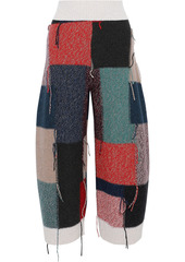 Stella Mccartney Woman Patchwork Frayed Wool Culottes Multicolor