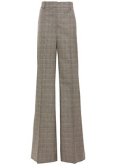 Stella Mccartney Woman Prince Of Wales Checked Wool Wide-leg Pants Black