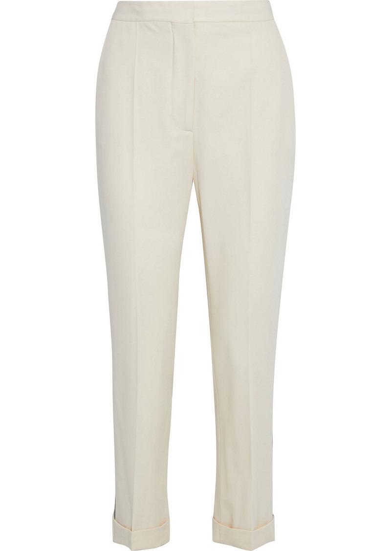 Stella Mccartney Woman Striped Wool-twill Slim-leg Pants Ivory