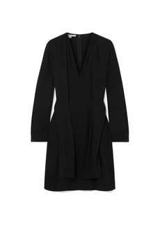 Stella Mccartney Woman Tie-detailed Cady Dress Black