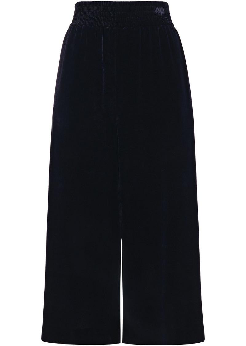Stella Mccartney Woman Velvet Culottes Midnight Blue
