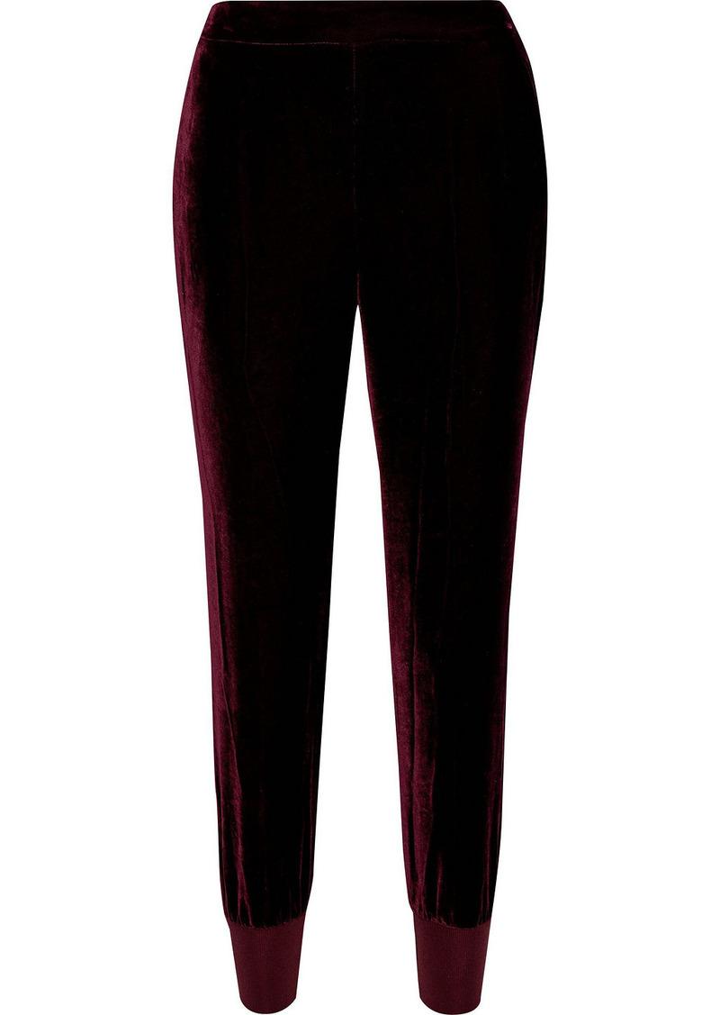 Stella Mccartney Woman Julia Velvet Track Pants Grape
