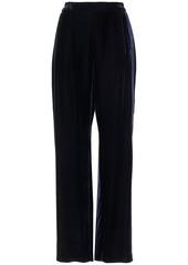 Stella Mccartney Woman Cicely Velvet Wide-leg Pants Midnight Blue