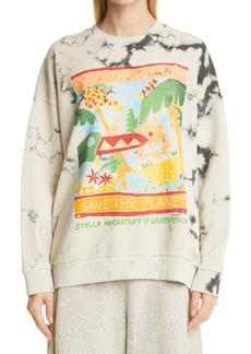 Stella McCartney x Greenpeace Tie Dye Rainforest Graphic Sweatshirt