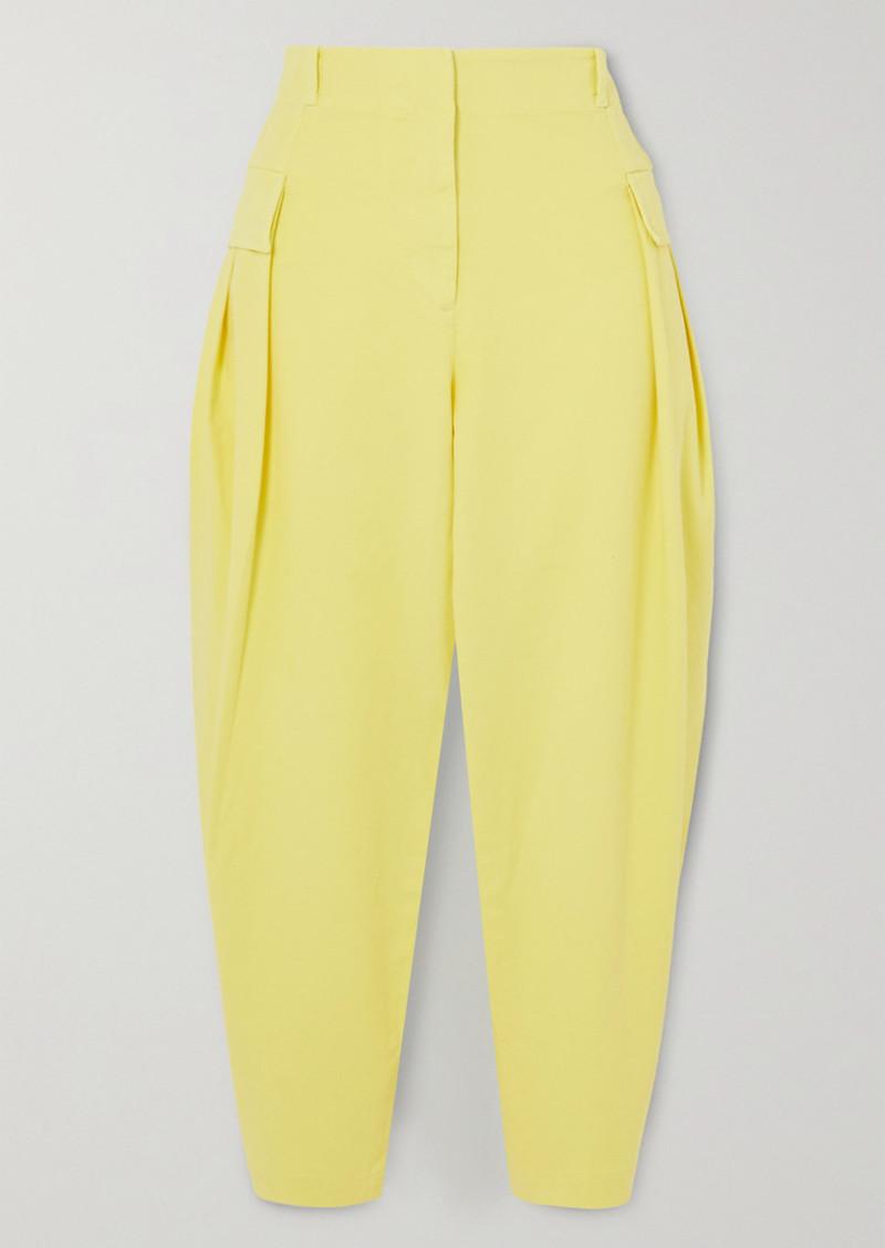 Stella McCartney Stretch-cotton Twill Tapered Cargo Pants