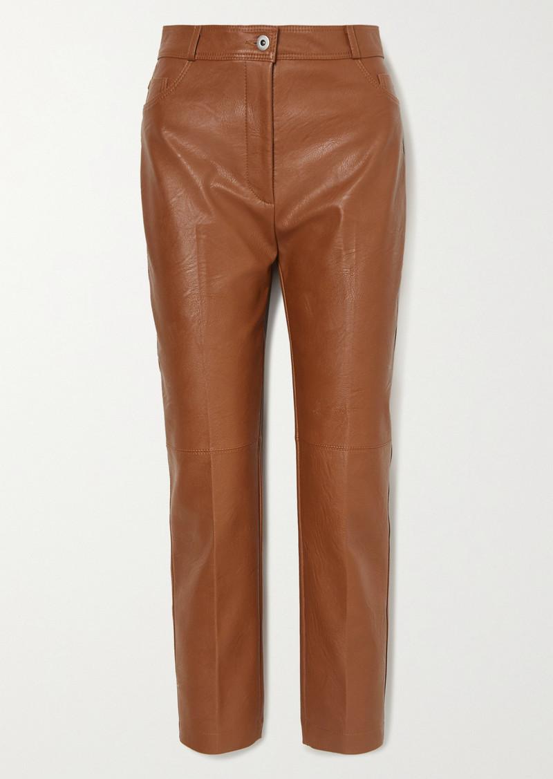 Stella McCartney Vegetarian Leather Straight-leg Pants