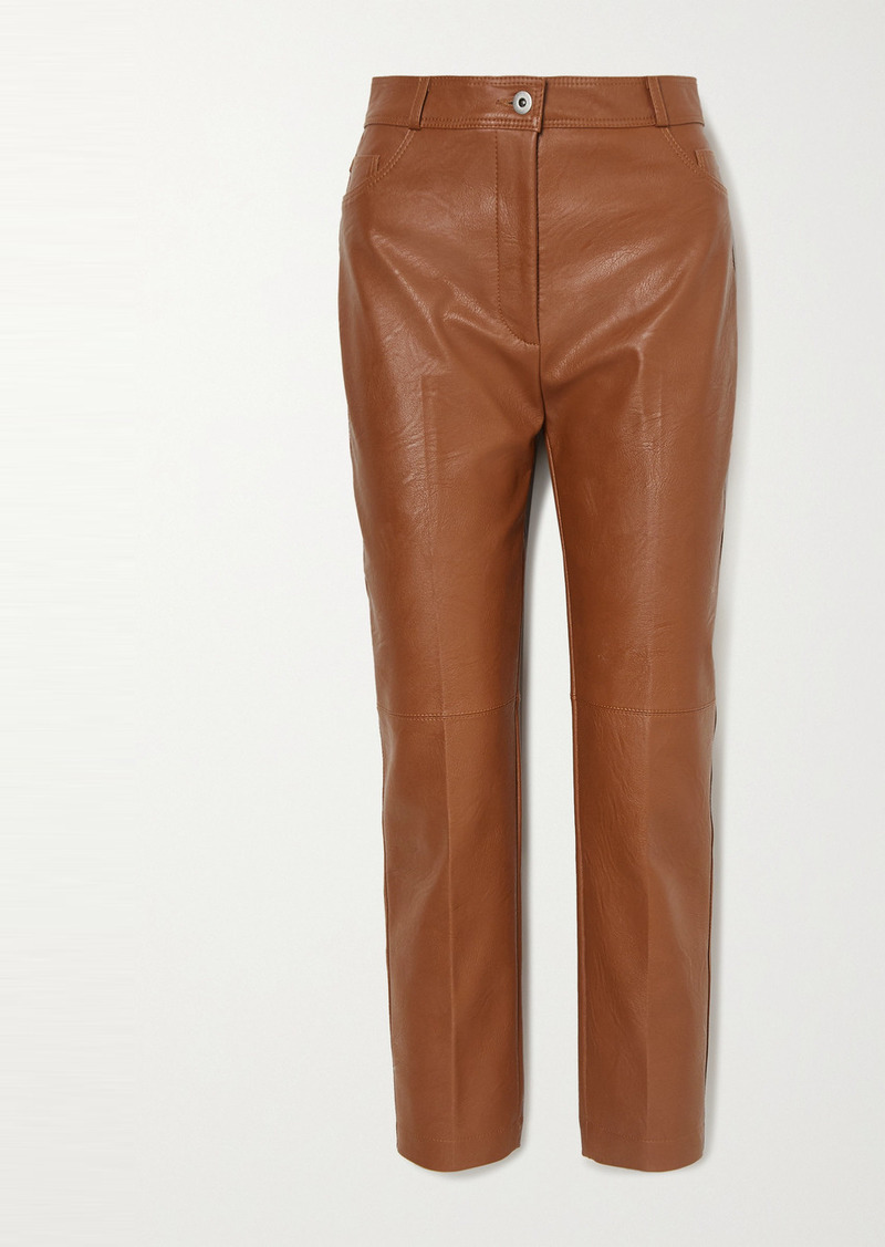 Stella McCartney Vegetarian Leather Straight-leg Pants
