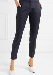 Stella McCartney Vivian Zip-detailed Wool-twill Straight-leg Pants